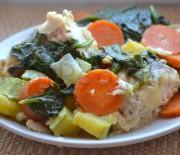 Хек с овощами
