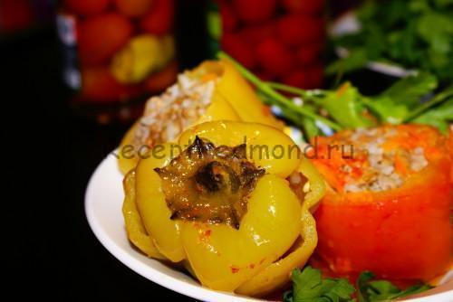 Фаршированные овощи в мультиварке Redmond