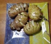 Печеный картофель с соленым салом