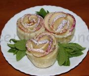 Слоеное печенье «Розы»