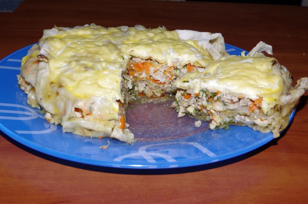 Ачма из лаваша с мясом пошаговый рецепт с