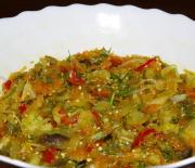 Кисло-сладкий салат из баклажанов