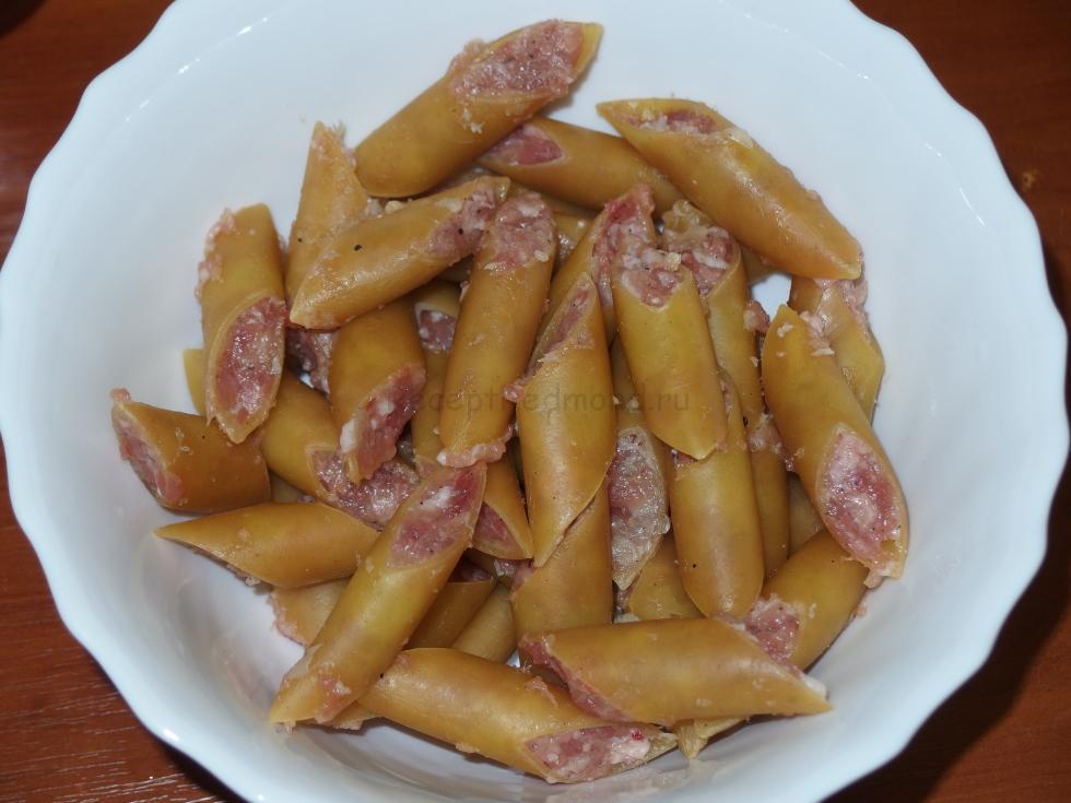 Фаршированные макароны в мультиварке пошаговый рецепт