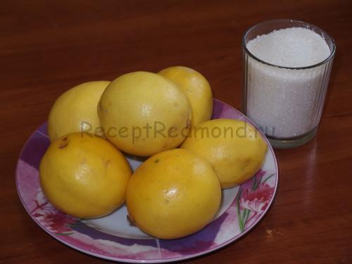 Лимонный джем в мультиварке Редмонд