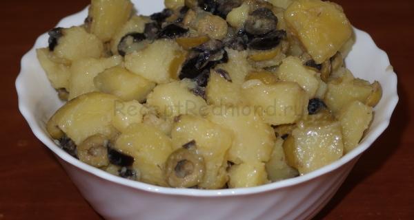 Картофель с розмарином и оливками