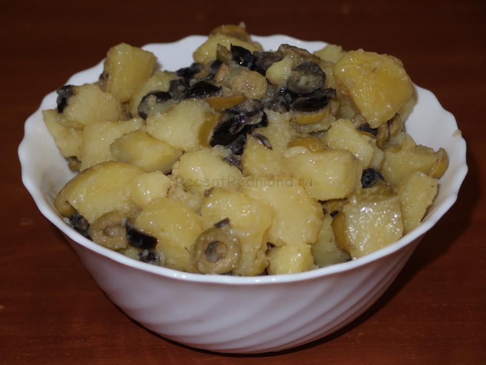Молодой картофель в сливках в мультиварке пошаговый рецепт с фото