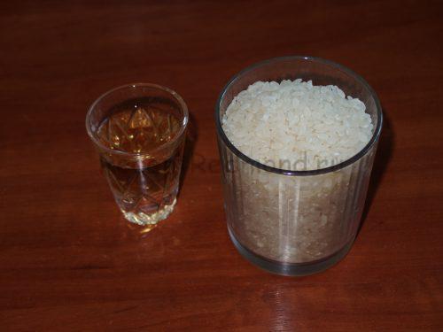 Ингредиенты для приготовления риса для суши