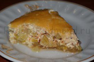 Кабачок в сырно-сметанном соусе