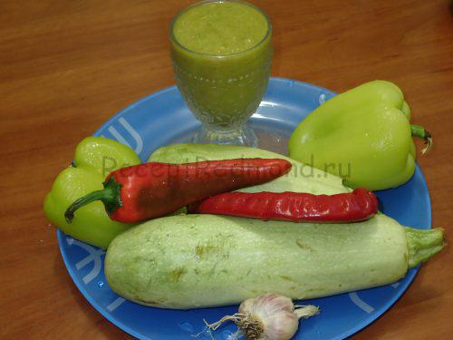 Ингредиенты для приготовления кабачков в сливовом соусе