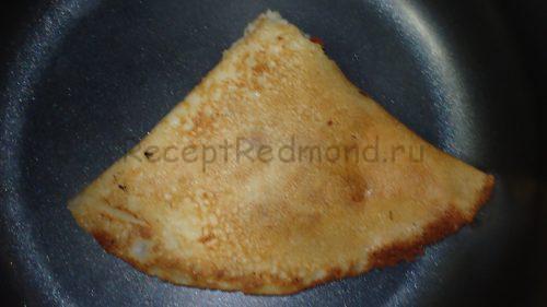 Блинчики-пирожки треугольником
