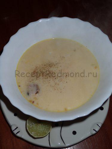 Суп из морепродуктов со сливками