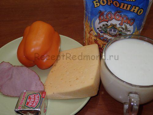 Ингредиенты для приготовления пиццы-хлеба