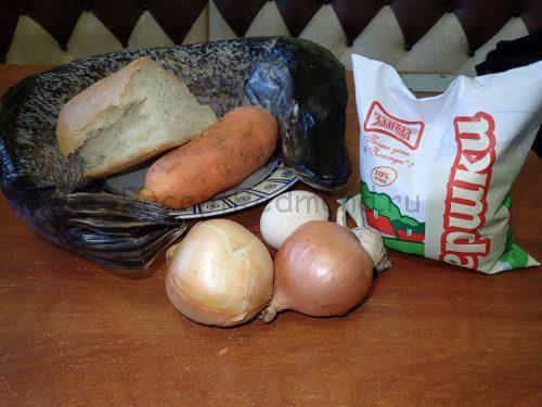 Ингредиенты для приготовления фаршированной щуки