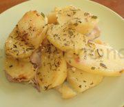 Рыба с картофелем в молоке