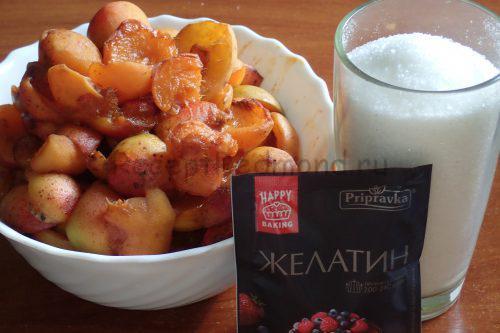 Ингредиенты для приготовления абрикосового варенья с желатином